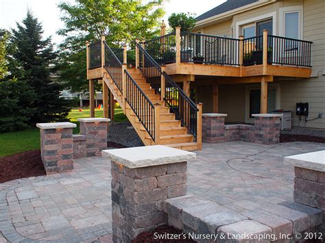 Deck With Patio Designs Deck Patio Mn Backyard Ideas Flickr Photo