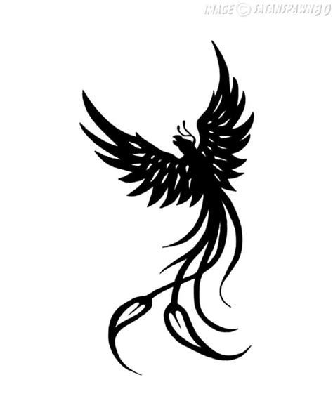 black phoenix tattoo black stencil by kate