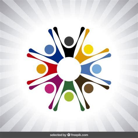 logo  abstract human avatars vector