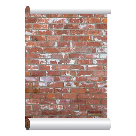 temporary peel off wall paint self adhesive removable wallpaper red brick by eazywallpaper