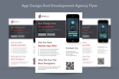 App Design Development Agency Flyer Flyer Templates On Creative Market Free Flyer Design Templates App
