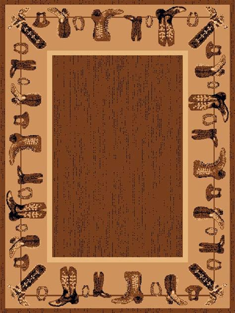 western themed rugs lodge cowboy boots western themed 5x8 area rug carpet great gift idea ebay