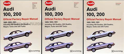 auto repair manual online 1989 audi 200 security system 1989 1991 audi 100 and 200 repair shop manual 3 volume set original