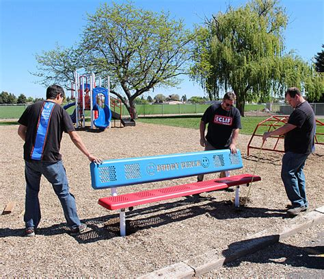 primary school benches new school benches aim to foster friendship on the playground