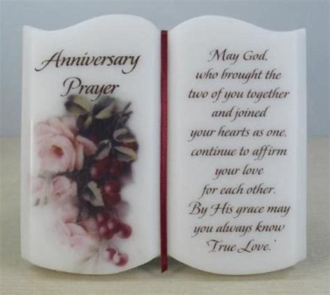 Wedding Anniversary Prayer by Anniversary Prayer Plaque