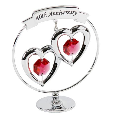 40th Wedding Anniversary What Gift by 40th Anniversary Gift Ruby Wedding Present Crystocraft