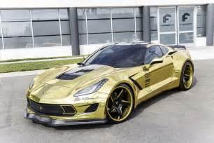forgiato creates golden widebody chevrolet corvette