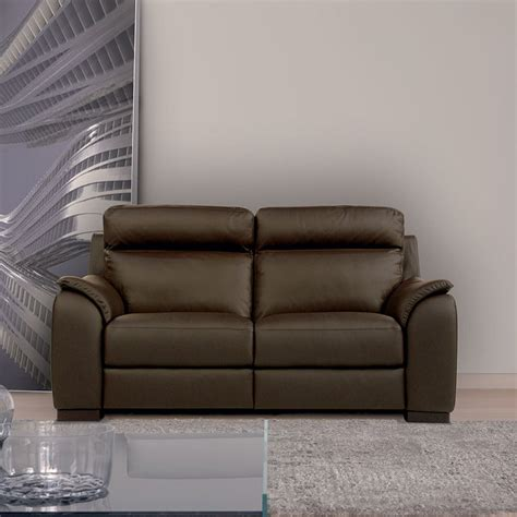 Calia Italia Leather Sofa Calia Italia Serena 2 Seater Power Recliner Brown Italian Leather Sofa All Sofas Living Room