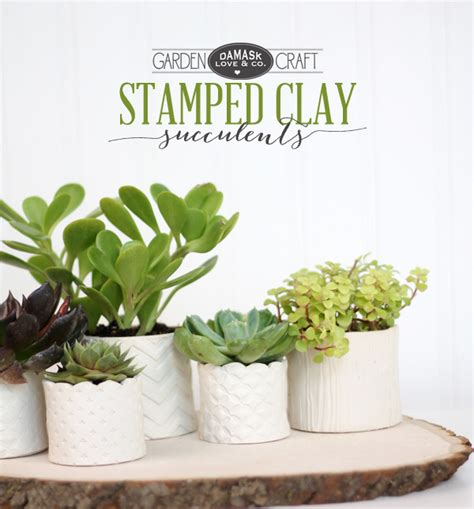 Home Depot Christmas Decoration Ideas by Diy Stamped Clay Succulent Pots Damask Love