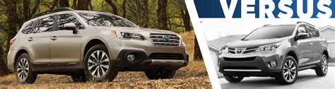 Toyota Rav4 Model Comparison 2016 Subaru Outback Vs Toyota Rav4 Feature Detail Comparison