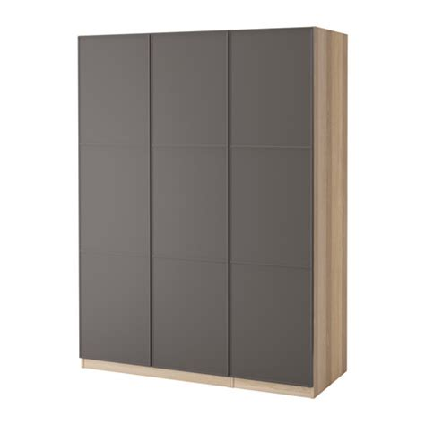 gray wardrobe pax wardrobe white stained oak mer 229 ker dark grey