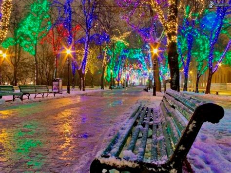 colorful winter wallpaper colorful lightning