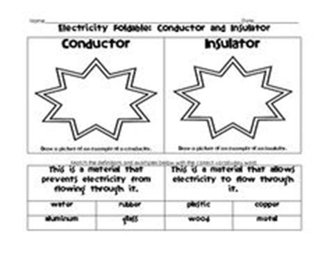 electrical conductors and insulators worksheet 15 best images of electricity worksheets for students electricity conductors and insulators