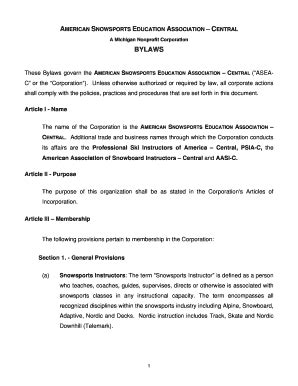 22 Printable Corporate Bylaws Template Pdf Forms Fillable Sles In Pdf Word To Download C Corp Bylaws Template
