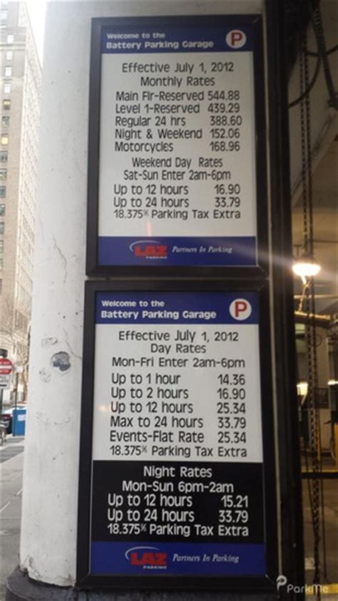 Battery Parking Garage Rates by Battery Parking Garage Parking In New York City Parkme