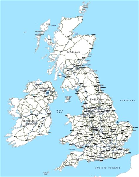 printable road map of great britain editable map of britain and ireland with cities and roads