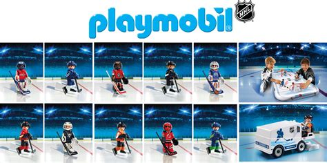 PLAYMOBIL NHL Hockey Arena   NHL Team Goalies & Players #
