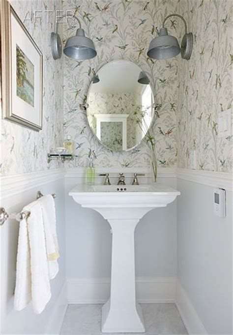 20 sweet bathrooms with pedestal sinks messagenote faux chair rail ideas contemporary 3d faux paneling