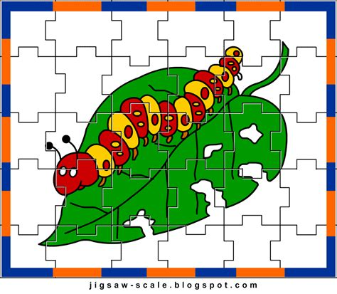jigsaw puzzle maker and printable printable jigsaw puzzle for kids caterpillar jigsaw