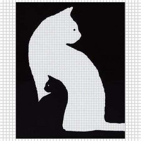 questions pattern of cat kitten black white cat crochet pattern graph afghan cross