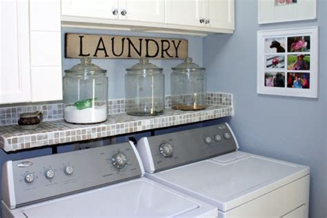 Laundry Detergent Shelf by I Like Like Tile Shelf And The Glass Jars For The Diy