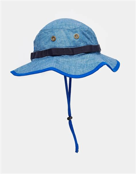 Zoonie Hats Blue Grass lyst mitchell ness ny boonie hat in denim in blue for