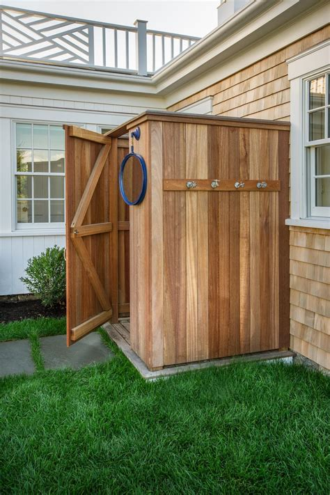 outdoor cedar shower hgtv home 2015 outdoor shower hgtv home