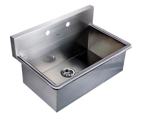 stainless steel wall mount commercial sink whitehaus stainless steel drop in or wall mount