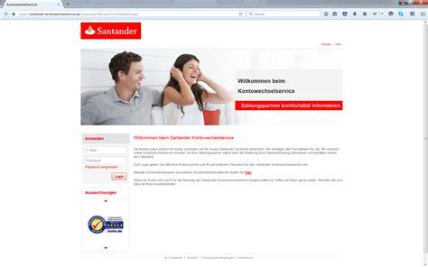 santander consumer bank login banking santander 123 girokonto im test