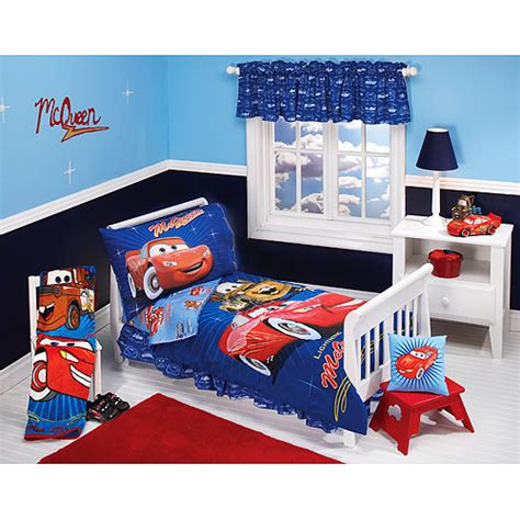 disney pixar cars bedroom set disney pixar cars club 4 toddler bedding set walmart