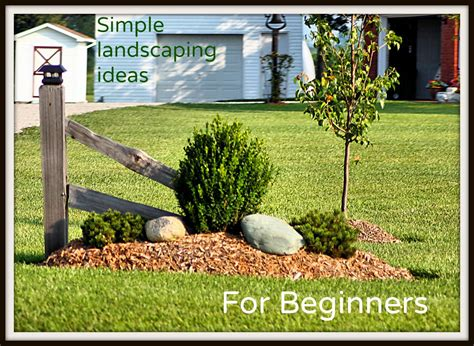 great simple ideas  beginning landscapers