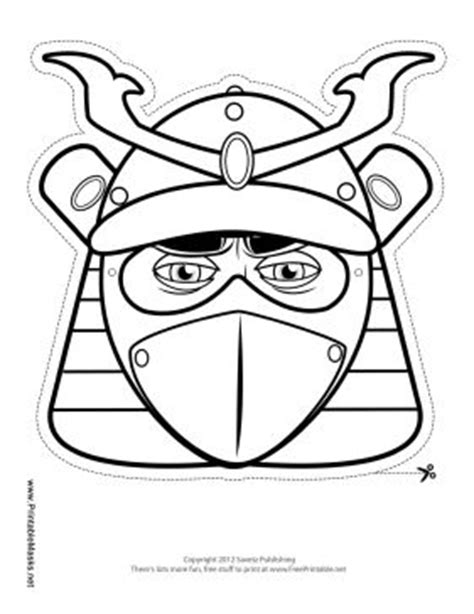 Outline In Color Masks Japanese by Samurai Mask To Color Printable Mask Free To And Print Pages To C O L O R