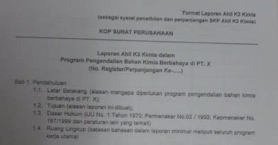 contoh membuat laporan praktikum kimia be safe out there contoh laporan ahli k3 kimia ak3 kimia
