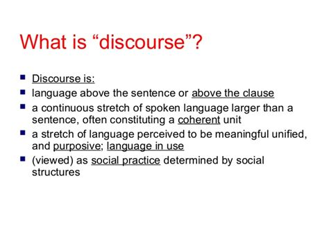 what is a one discourse analysis