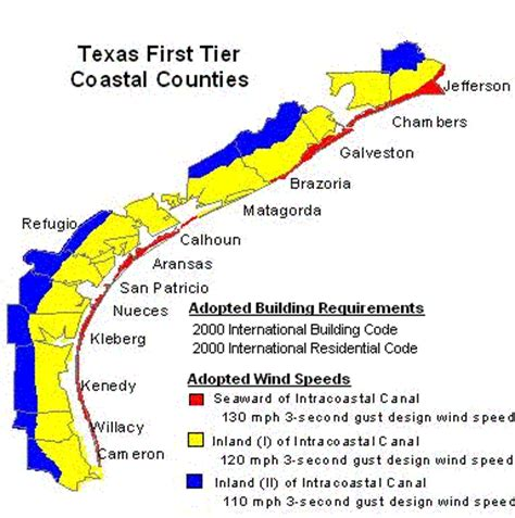texas wind zone map texas coastal maps hurricane shutters d c solutions