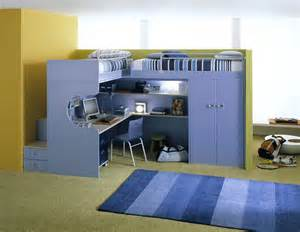 Desk Bunk Davaus Net Chambre Pour Trois Garcons Avec Des Id 233 Es
