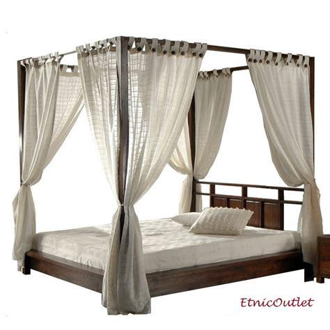 letto a baldacchino legno letto etnico a baldacchino legno massello 180x220h195