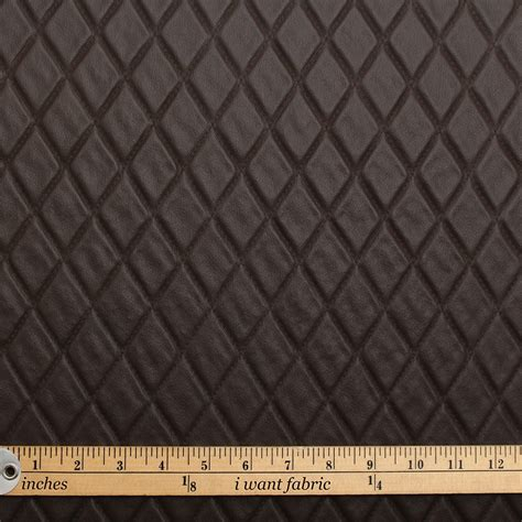 Faux Leather Vinyl Upholstery Fabric by Stitch Embossed Padded Luxury Cer Car