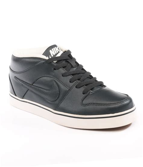 nike black liteforce mid leather casual shoes price in