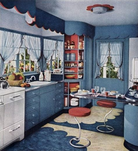 vintage kitchen lighting a 1940 s retro theme for your a way to think about red white and blue