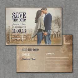 Save The Date Postcard Template by Rustic Save The Date Postcard 4x6 Printable Digital File