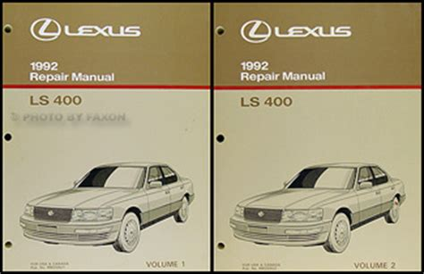 old car repair manuals 1992 lexus sc transmission control 1992 1993 lexus ls400 and sc400 automatic transmission repair manual original