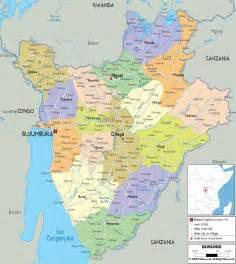 detailed clear large map of burundi ezilon maps