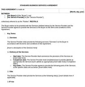 business service agreement template 10 free documents