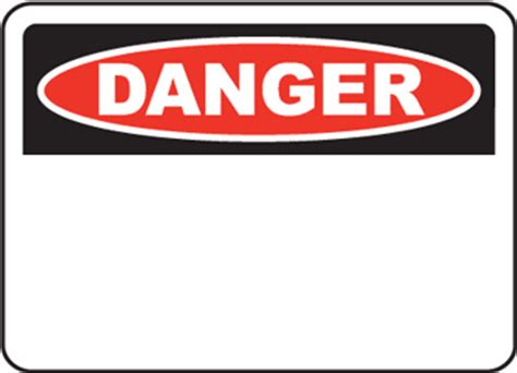 the purpose of custom danger and warning signs safety