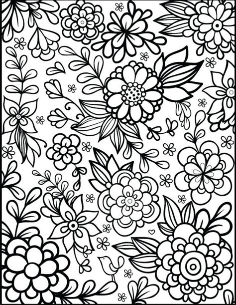 Coloring Pages For Printable by Get This Flowers Coloring Pages For Adults Printable Ar371