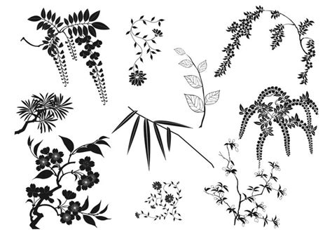oriental pattern brush photoshop oriental branches and leaves brushes pack free photoshop