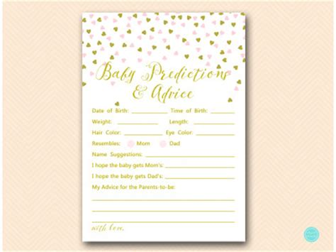 pink  gold baby shower game package magical printable