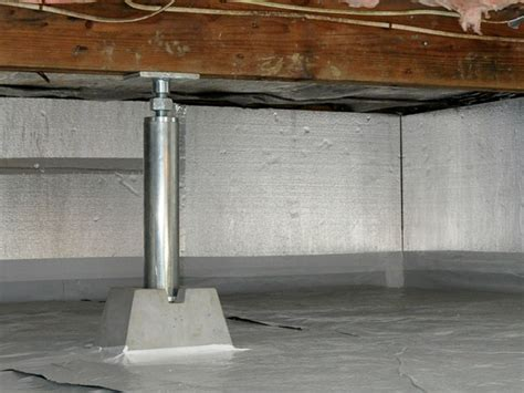 crawl space jacks installed  authorized foundation contractors warranted crawl space support