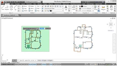 autocad tutorial how to insert a title block autocad space planning tutorial title blocks youtube